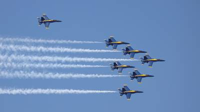 Blue Angels America Strong Flyover in Jacksonville